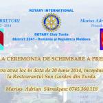 invitatie schimbare presedinte 2014